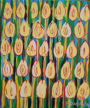 Edward Dwurnik, Żółte tulipany (2016)