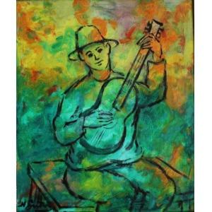 Nathan Gutman (1898-1987), Chłopiec grający na gitarze