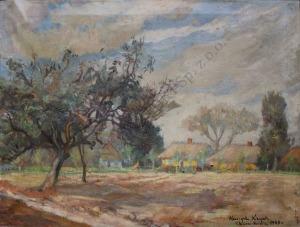 Henryk Krych (1905-1980), Pejzaż ze Złakowa Kościelnego (1943)