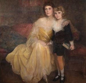 Bolesław Jan Czedekowski (1885 Wojniłów – 1969 Wiedeń), Matka z synem, 1923 r.
