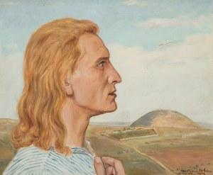 Wlastimil Hofman (1881 Praga - 1970 Szklarska Poręba), W drodze do góry Tabor, 1943 r.