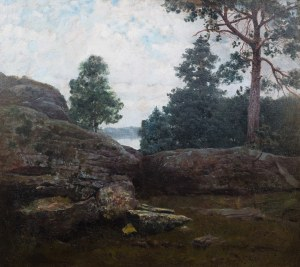 Józef Rapacki (1871 Warszawa - 1929 Olszanka k. Skierniewic), Pejzaż, 1902 r.