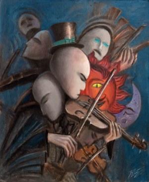 Konstantyn Płotnikow (ur. 1991), Violinist Metamorphosis, 2021