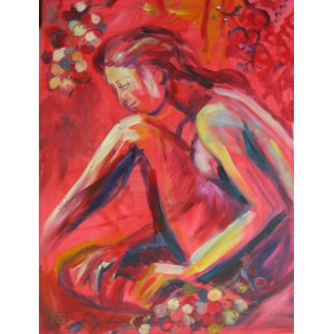 Anna Borcz, Akt - czerwone winogrona