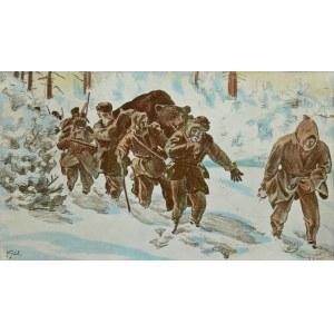 Julian Fałat (1853 Tuligłowy - 1929 Bystra), Powrót z polowania