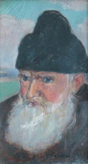 Wlastimil HOFMAN (1881-1970), Głowa starca w futrzanej czapce, 1939