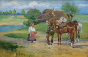Jerzy KOSSAK (1886-1955), Pytanie o drogę, 1939
