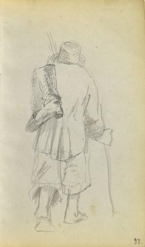 Jacek MALCZEWSKI (1854-1929), Wiejski dziad z butami na ramieniu ukazany tyłem