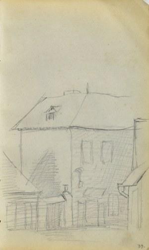 Jacek MALCZEWSKI (1854-1929), Fragment zabudowy miejskiej