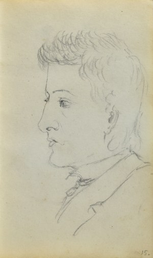 Jacek MALCZEWSKI (1854-1929), Popiersie młodego mężczyzny z lewego profilu