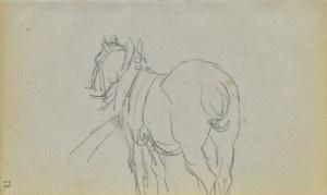 Jacek MALCZEWSKI (1854-1929), Koń w zaprzęgu widziany od zadu