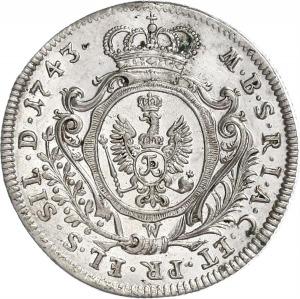 Brandenburg-Preußen, Friedrich II, 15 Kreuzer 1743 W