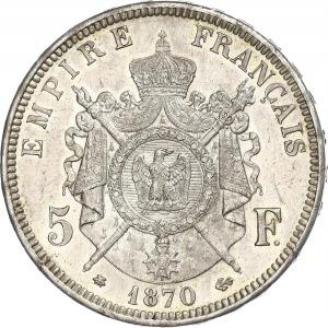 Napoleon III, 5 Francs 1870 A