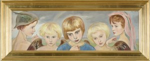 Wlastimil Hofman (1881-1970), Modlitwa chłopca z aniołami (1931)