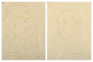 Wlastimil Hofman (1881-1970), Para rysunków – autoportret artysty oraz portret jego żony Ady (1934)