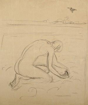 Wlastimil Hofman (1881-1970), Kobieta z pisklęciem