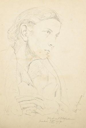 Wlastimil Hofman (1881-1970), Portret Ady Hofmanowej (1927)