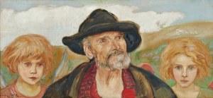 Wlastimil Hofman (1881-1970), Starzec z parą aniołków (1924)