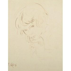 Wlastimil Hofman (1881-1970), Portret młodej dziewczyny (1926)