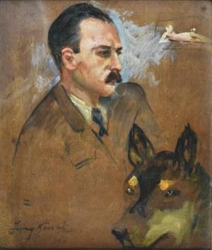 Jerzy KOSSAK (1886-1955), Popiersie mężczyzny, głowa psa oraz akt leżący kobiety