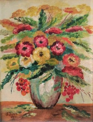 Solter Jaxa-Małachowski (1867-1952),Kwiaty w wazonie