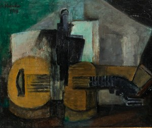 Alicja HALICKA (1889-1974), Martwa natura z gitarą , 1914