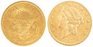 20 DOLARÓW, LIBERTY, Stany Zjednoczone, 1877, S