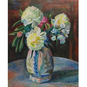 Maurycy MĘDRZYCKI (1890-1951), Kwiaty w wazonie, 1933