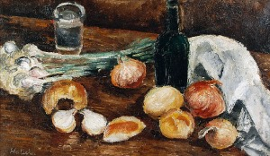Alicja HALICKA (1894-1975), Martwa natura z cebulą