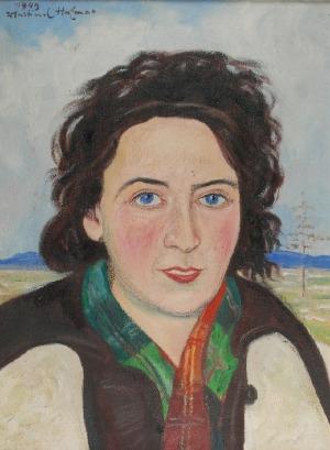 Wlastimil HOFMAN (1881-1970), La bella bruna, 1949