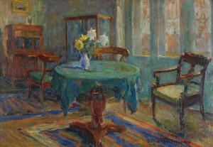 Zofia ALBINOWSKA-MINKIEWICZOWA (1886-1971), Wnętrze saloniku