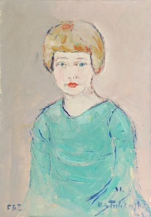 Włodzimierz TERLIKOWSKI (1873-1951), Portret dziewczynki, 1931
