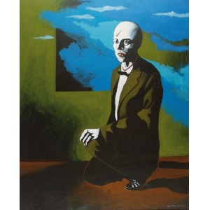 Antoni FAŁAT (ur. 1942), Portret Gerarda Graave, 1986