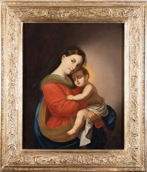 Marcel Johann v. Zadorecki (czynny 2 poł. XIX w., Wiedeń), Madonna z Dzieciątkiem, 1862