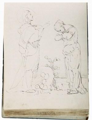 Jacek Malczewski (1854-1929) i inni, Pamiętnik Bronisławy Malczewskiej, m.in. z rysunkami i wierszami Jacka Malczewskiego