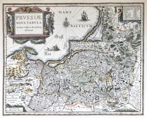 Gafparo Henneberg Erlichenfi, PRUSSIAE Nora Tabula (mapa)