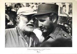 Salas, Ernest Hemingway y Fidel Castro, Cuba 1960 r.