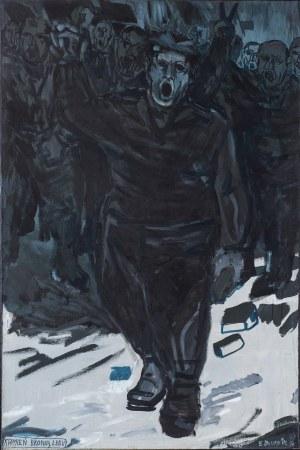 Edward DWURNIK (1943 - 2018), Kamień bronią ludu, 1982