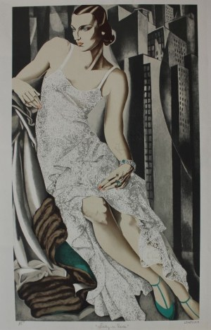 Tamara de Lempicka wg (1898-1980), Lady in lace