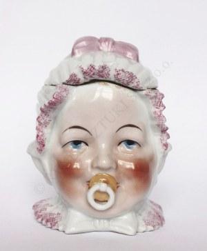 Pojemnik Głowa dziecka ze smoczkiem