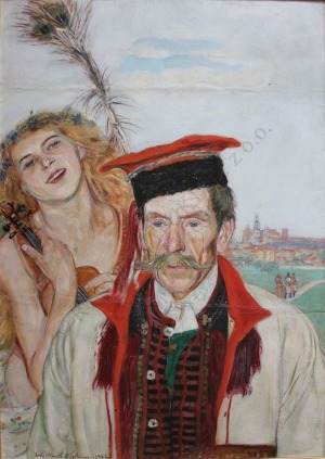 Wlastimil Hofman (1881-1970), Krakowiacy na tle Wawelu[Na krakowską nutę] (1922)