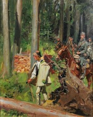 Wojciech KOSSAK (1856-1942), Przejście przez las, 1919