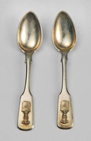 Teodor WERNER i Ska (spadkobierca Malcza, firma czynna do 1939), Zestaw 12 łyżeczek do kawy