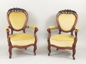 Para foteli w stylu Ludwika Filipa