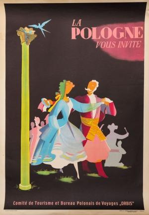 Tadeusz GRONOWSKI, Plakat LA POLOGNE VOUS INVITE, ok. 1950