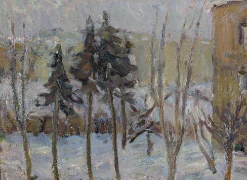 Marian ADAMCZYK, ZIMA W NAŁĘCZOWIE, 1969