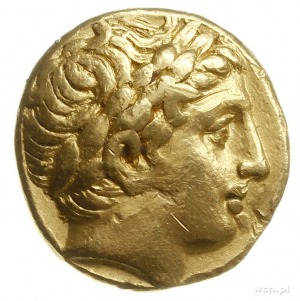 stater ok. 323-315 pne, mennica Pella; Aw: Głowa Apolli...