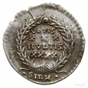 silikwa ok. 351-355, Sirmium; Aw: Popiersie cesarza w p...