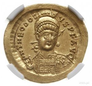 solidus 441-450, Konstantynopol; Aw: Popiersie cesarza ...