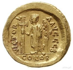 solidus 491-518, Konstantynopol; Aw: Popiersie cesarza ...